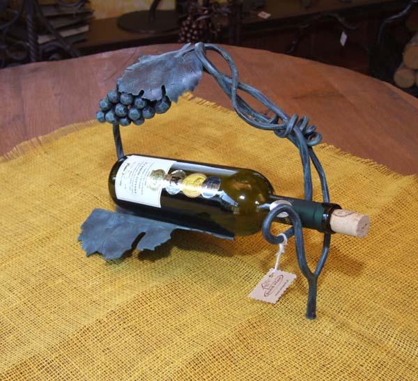 Držiak na víno - list so strapcom hrozna - zobraziť detaily