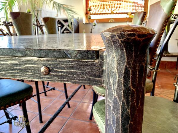 e9d5db3dcf231 Stoly a stoličky - Luxusný jedálenský stôl - kovaný nábytok   Kované ...